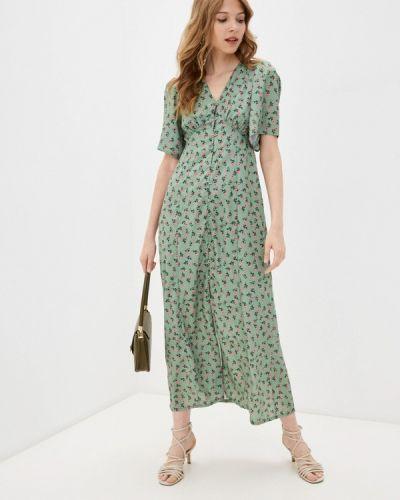 Прямое зеленое платье А-силуэта Trendyol