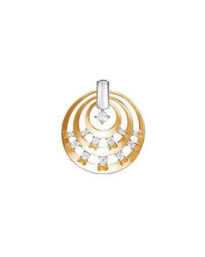 Золотая подвеска с камнями с фианитом кюз дельта
