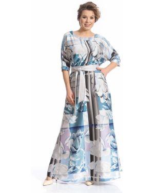 С рукавами платье макси на молнии с манжетами с вырезом Merlis