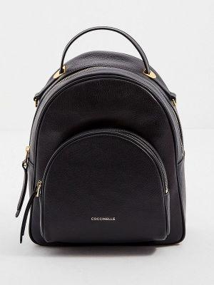 Черный кожаный рюкзак Coccinelle