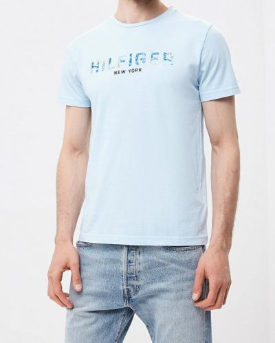 Голубая футболка Tommy Hilfiger