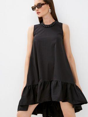 Черное прямое платье Imperial
