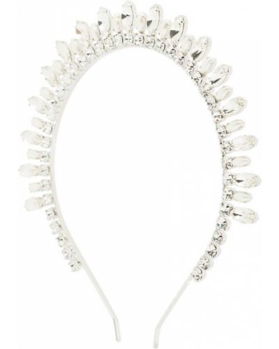 Серебряный ободок с жемчугом металлический Alessandra Rich
