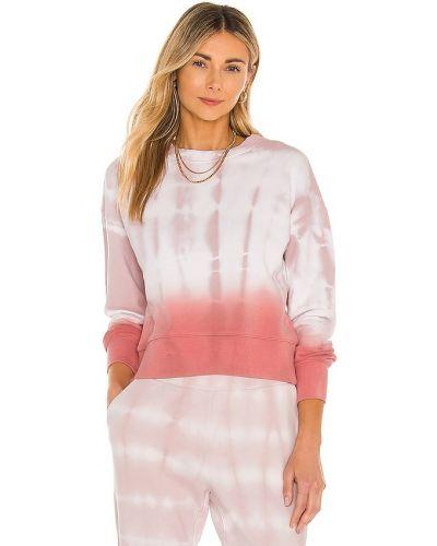 Розовый базовый хлопковый свитшот 525