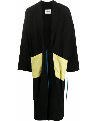 Черное с рукавами кимоно с поясом с лацканами Ambush