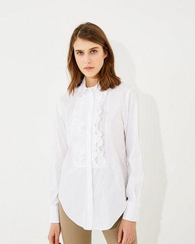 Белая блузка с рюшами Twin-set Simona Barbieri