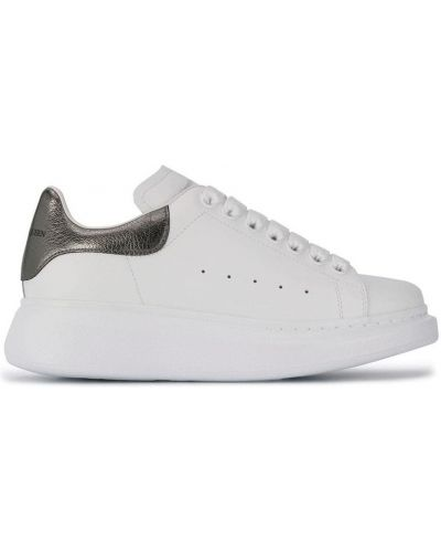 Czarne sneakersy srebrne Alexander Mcqueen