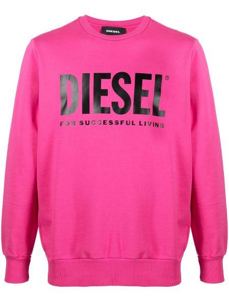 Bawełna z rękawami różowy bluza Diesel