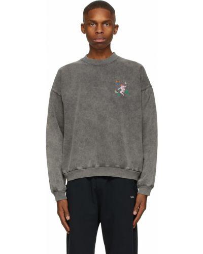 Czarna bluza długa z długimi rękawami bawełniana Carne Bollente