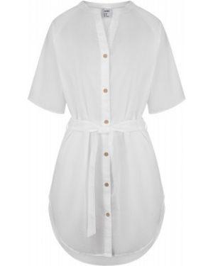 Хлопковое белое прямое спортивное пляжное платье Joss