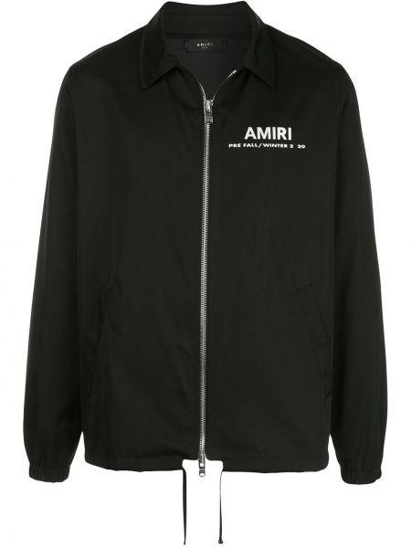 Рубашка на молнии - черная Amiri
