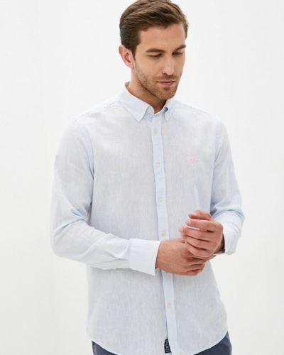 Голубая рубашка с длинным рукавом Galvanni