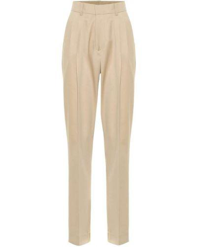 Бежевые шерстяные брюки Ryan Roche