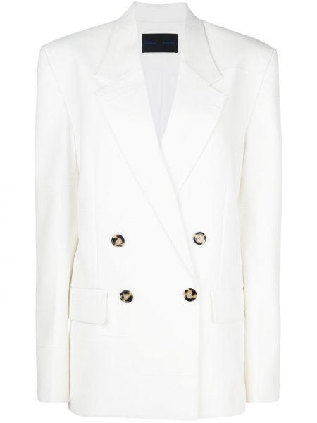 Белая свободная куртка с манжетами на пуговицах Proenza Schouler