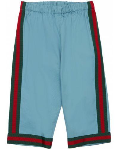 Niebieskie spodnie bawełniane Gucci