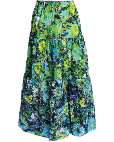 Zielona spódnica midi tiulowa koronkowa Marques Almeida