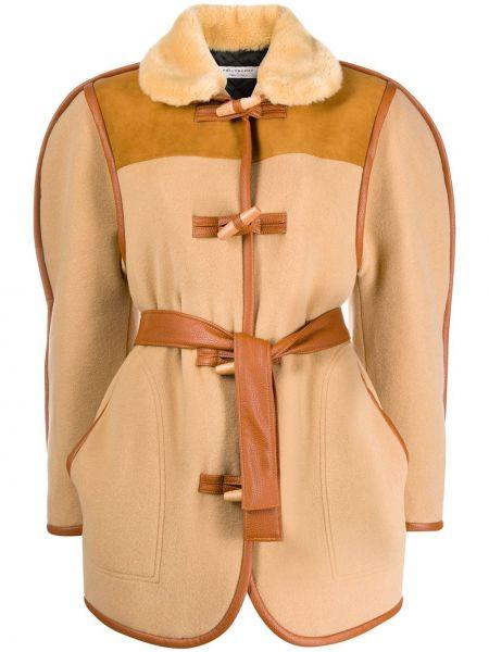 Шерстяное длинное пальто с карманами Philosophy Di Lorenzo Serafini