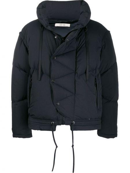 Черная куртка с капюшоном на молнии с карманами с перьями Damir Doma