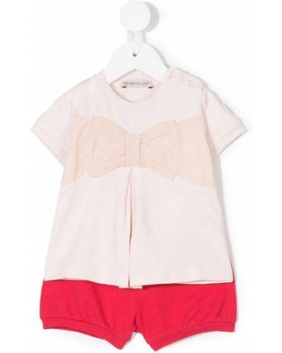 Спортивный костюм розовый красный Moncler Kids