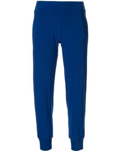 Спортивные брюки с манжетами синие Norma Kamali