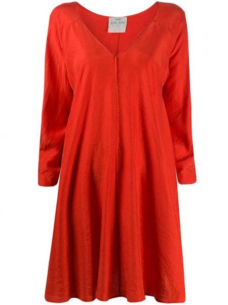 Платье с V-образным вырезом красный Forte Forte