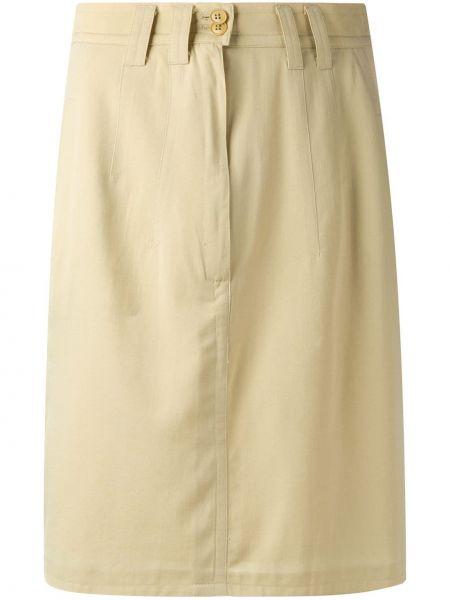 Желтая юбка винтажная Jil Sander Pre-owned