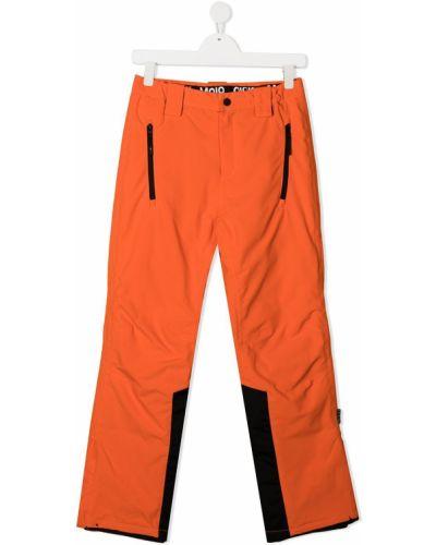 Брючные черные нейлоновые брюки с поясом Molo