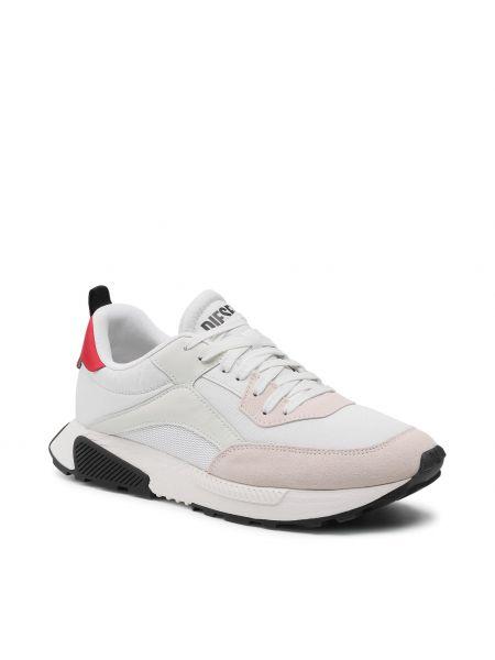 Buty sportowe skorzane - białe Diesel