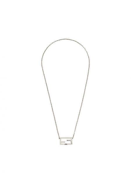 Ażurowy naszyjnik srebrny Fendi