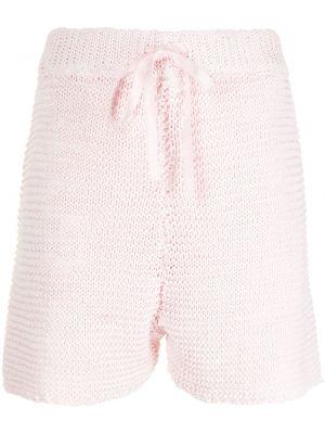 Трикотажные шорты - розовые Sjyp