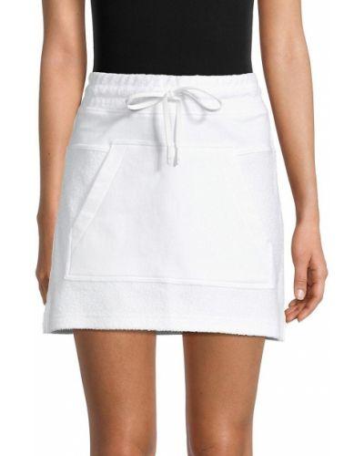 Хлопковая белая юбка мини Alala