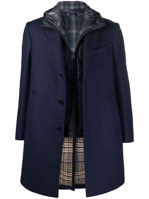 Синее пальто длинное Fay