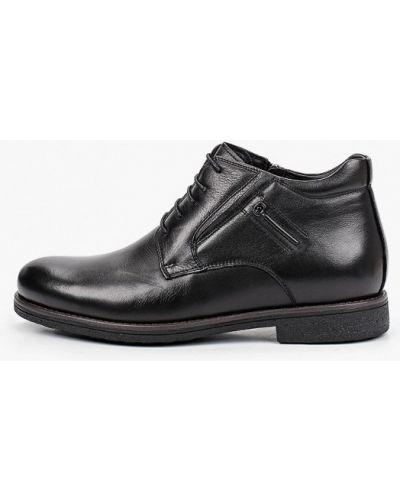 Черные кожаные ботинки Rossini Roberto