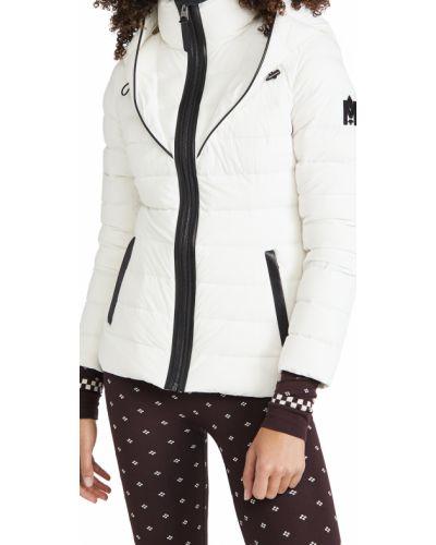 Белая кожаная куртка с капюшоном Mackage