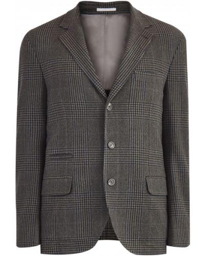 Классический пиджак шерстяной на пуговицах Brunello Cucinelli