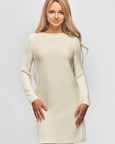 Платье осеннее бежевое Brunello De Neri