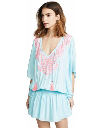 Текстильное розовое платье Tiare Hawaii
