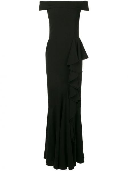 Вечернее платье с поясом на молнии Alexander Mcqueen