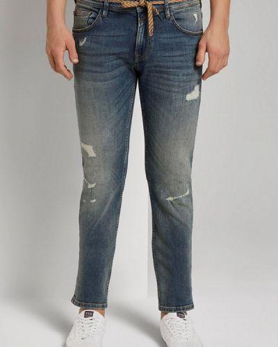 Джинсовые зауженные джинсы - синие Tom Tailor Denim