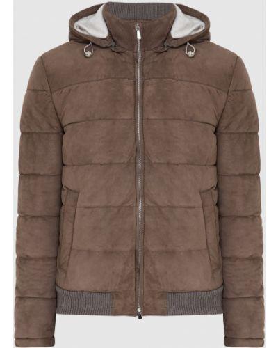 Замшевая куртка - бежевая Enrico Mandelli