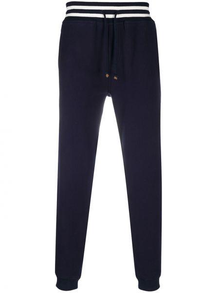 Niebieski ze sznurkiem do ściągania bawełna dres z kieszeniami Brunello Cucinelli