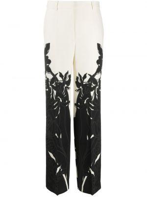 Spodnie z wysokim stanem czarne z kieszeniami Valentino