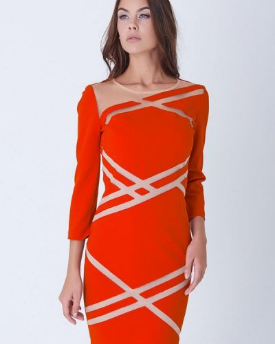 Платье весеннее красный Ricamare