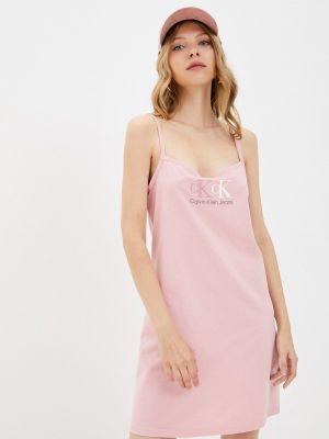 Джинсовое платье - розовое Calvin Klein Jeans