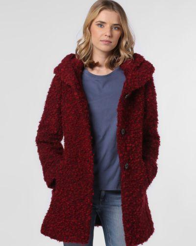 Czerwony płaszcz z kapturem oversize Amber & June