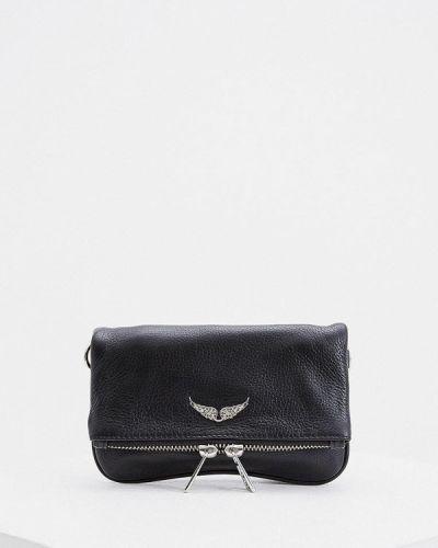 Кожаная сумка через плечо - черная Zadig & Voltaire