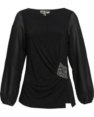 Блузка со стразами черная Bonprix
