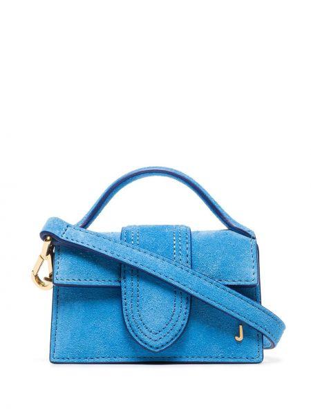 Синяя сумка на плечо металлическая Jacquemus