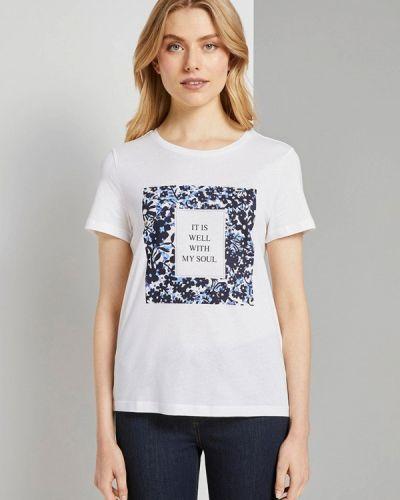 Белая футболка с короткими рукавами Tom Tailor