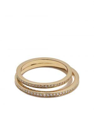 Żółty złoty pierścionek z diamentem Georg Jensen
